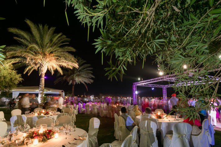 Wedding venue for Sangeet in Athens Riviera, Greece