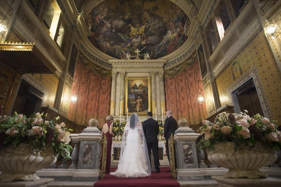 Catholic wedding in greece seems to be the perfect choice catholic church wedding greece junglespirit Image collections