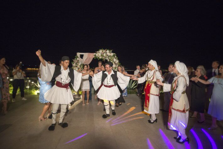 Greek traditional dancers for wedding show in Reception party