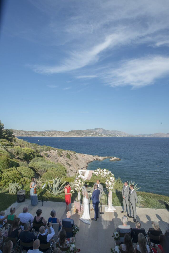 Wedding ceremony in Island art and Taste venue
