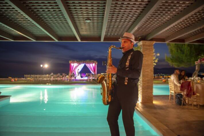 Saxophone player for wedding in Greece