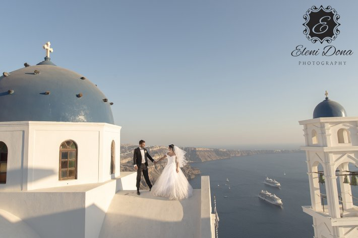 Lebanese wedding Santorini Anastasi church