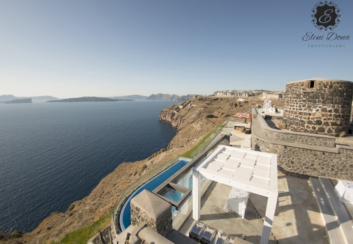 Private wedding venue in Santorini