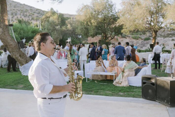 Saxophone player for weddings in Greece