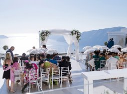 LeCiel Gazebo wedding venue Santorini Greece