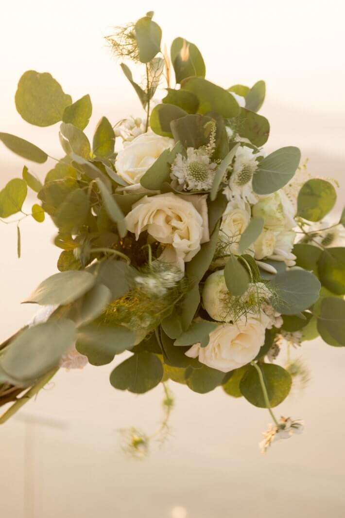 Flower bouquet for wedding ceremony