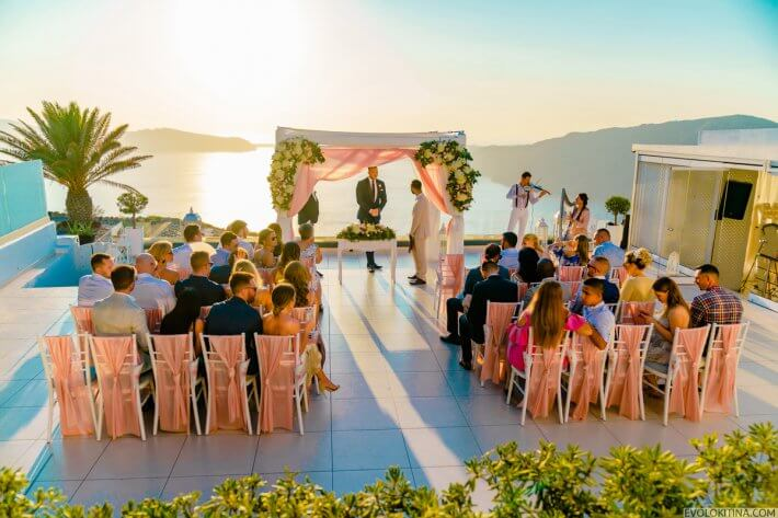 Wedding ceremony in LeCiel Santorini
