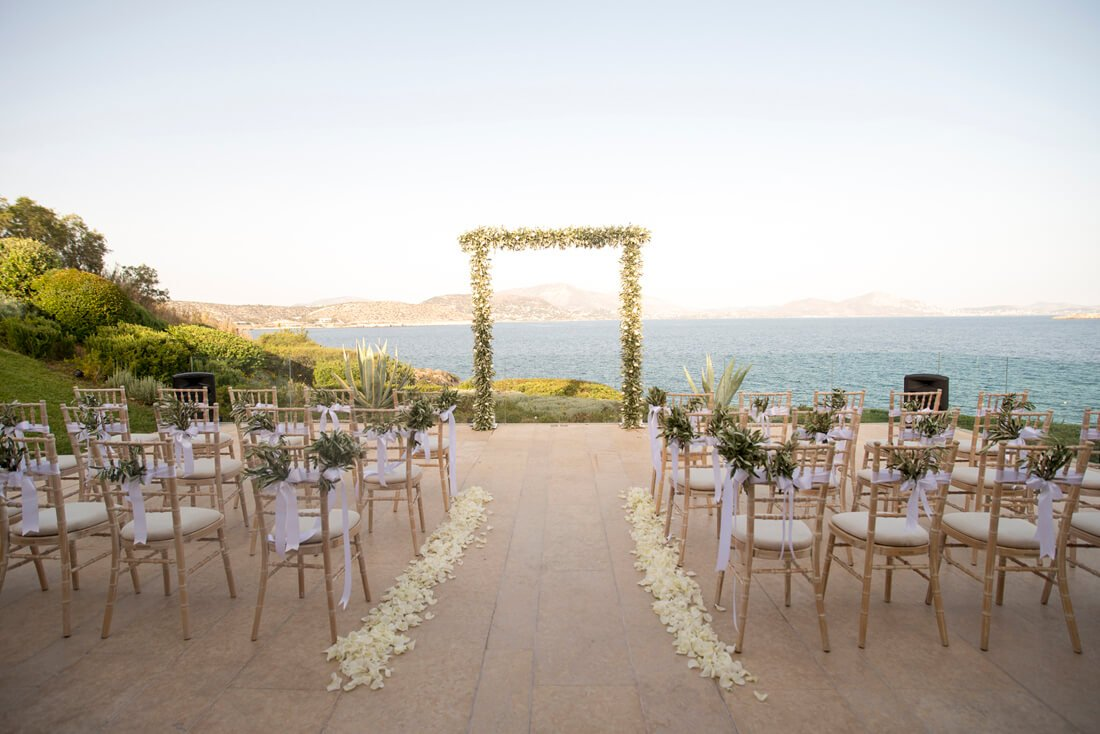 Wedding Ceremony Setup For Destination In Athens Greece