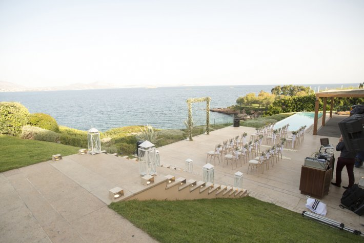 Private wedding venue in Athenian Riviera, Greece