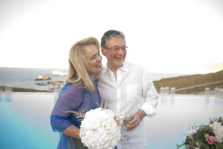 Wedding in Mykonos island, Greece for Margrit and John