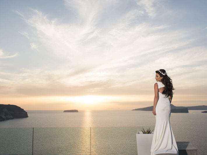 Arab Lebanese wedding santorini Greece