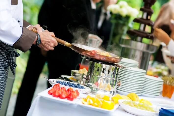 food station for wedding reception greece