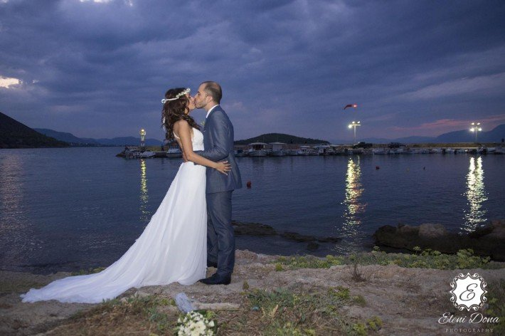 Sunset wedding in Greece