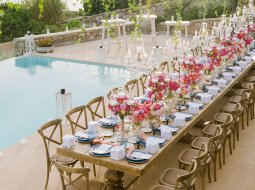 Wedding dinner in Mykonos, Greece