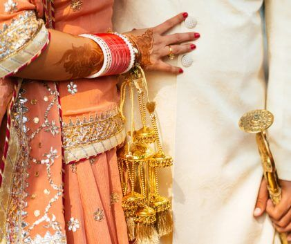 Details of groom's and bride sikh wedding