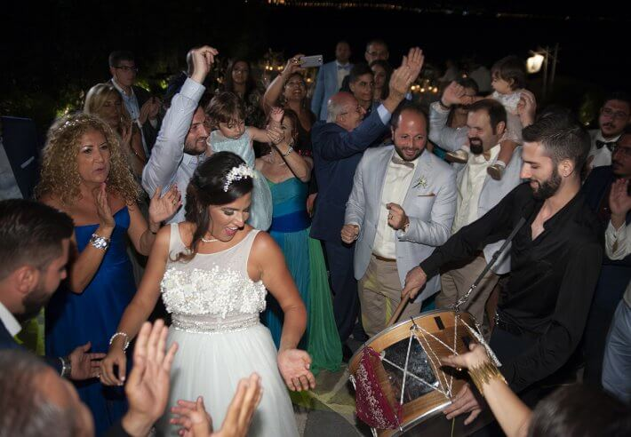 Dancing and party at Lebanese wedding in Athens Greece