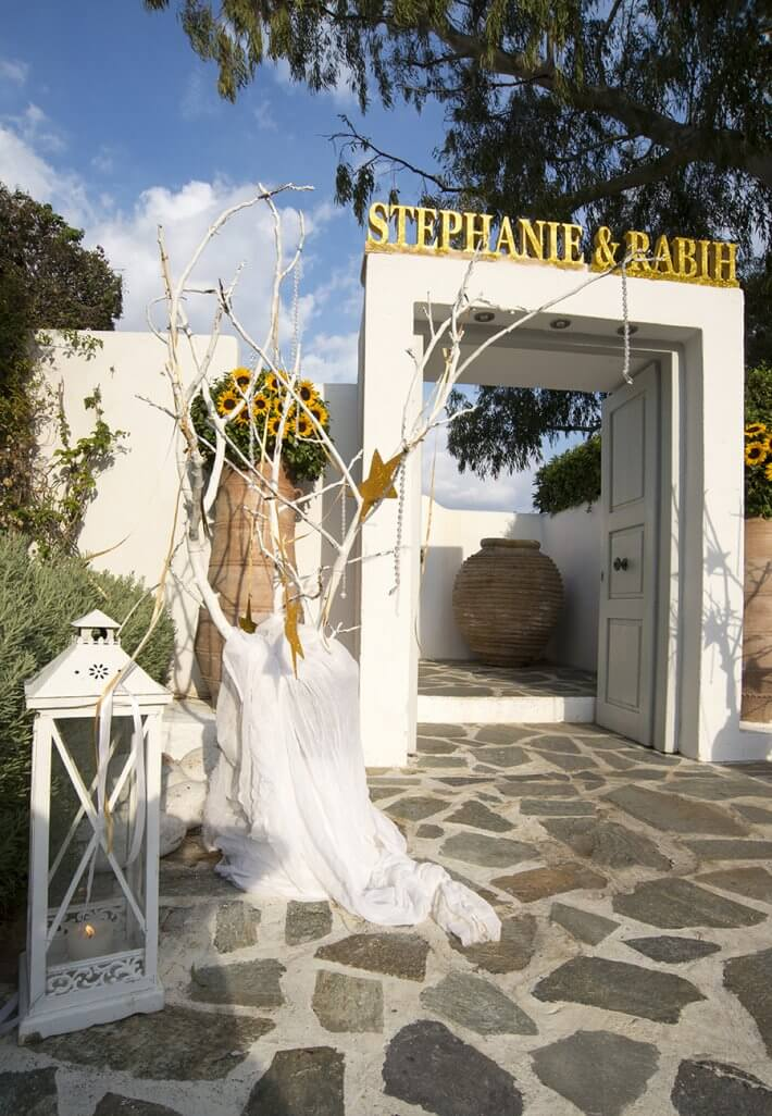 Wedding venue entrance decoration in lebanese wedding athens greece