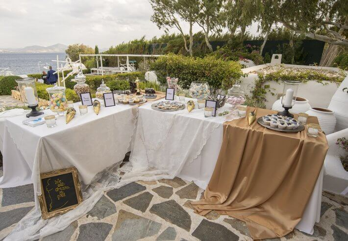 Candy bar and wedding decoration in lebanese wedding athens greece