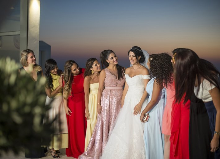 Wedding in santorini photo-shooting
