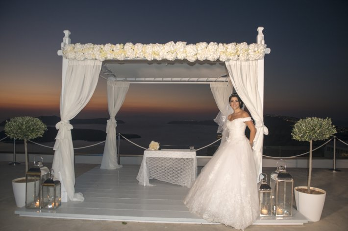Santorini GEM gazebo ceremony area