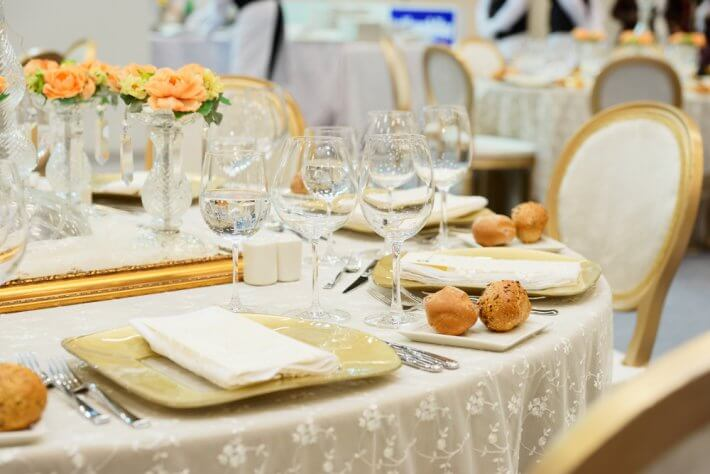 Served menu table for your wedding in Greece