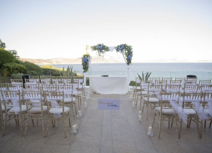 wedding ceremony area in island art and taste venue in athens greece
